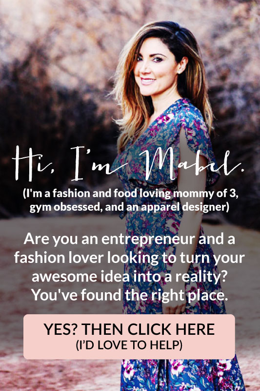 Hi, I'm Mabel! Are you an entrepreneur and a fashion lover looking to turn your awesome idea into a reality? You've found the right place. Yes? Then click here. I'd love to help.