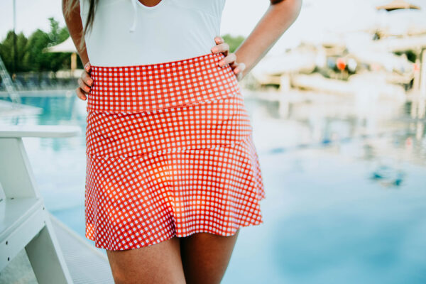 Swim Cover - Copper/White Gingham